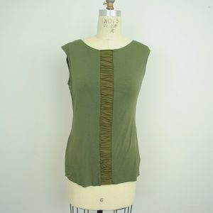 Bailey/44 Top Ruched Front Stretch Sleeveless